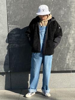 LINKS UMEDA店のKo-jiさんのEDWINの【直営店限定】オーバーオール【ユニセックス】を使ったコーディネート