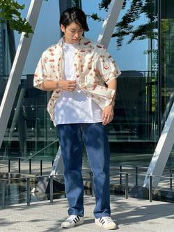 LINKS UMEDA店のKo-jiさんのEDWINのアロハ 半袖シャツを使ったコーディネート