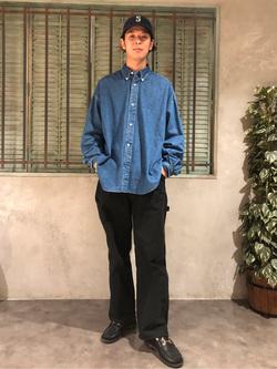 ルミネエスト新宿店のTatsuyaさんのLeeの【ユニセックス】DUNGAREES ペインターパンツを使ったコーディネート