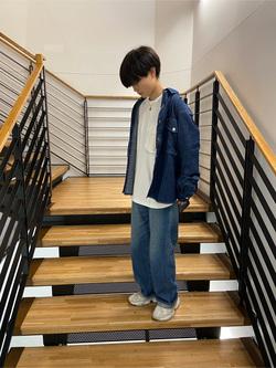 錦糸町PARCO店のEriさんのEDWINのミリタリーデニムシャツ 長袖(US NAVY CPO SHIRTSタイプ)を使ったコーディネート