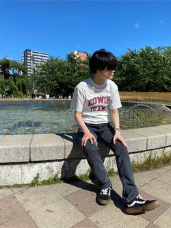 錦糸町PARCO店のEriさんのEDWINの503 スリムテーパード【レングス73cm】を使ったコーディネート