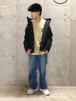 錦糸町PARCO店のEriさんのEDWINの終了【サマーセール】EDWINクラシックロゴ Tシャツ 半袖 (革ラベル)を使ったコーディネート