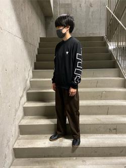 錦糸町PARCO店のEriさんのEDWINのF.L.E ワイド テーパードを使ったコーディネート