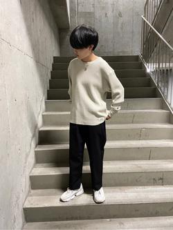 錦糸町PARCO店のEriさんのEDWINのワッフル ロングスリーブTシャツを使ったコーディネート