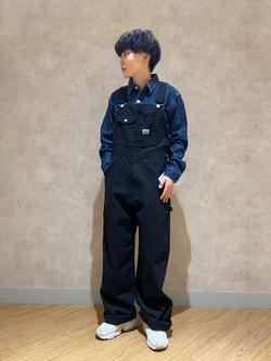 錦糸町PARCO店のEriさんのEDWINの【直営店限定】オーバーオール【ユニセックス】を使ったコーディネート
