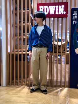 錦糸町PARCO店のEriさんのEDWINの505 チノ ワイドストレートを使ったコーディネート
