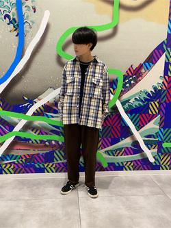 錦糸町PARCO店のEriさんのEDWINのミリタリーチェックネルシャツ 長袖(US NAVY CPO SHIRTSタイプ)を使ったコーディネート