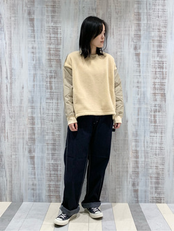 Lee 名古屋店の千さんのLeeの【Winter sale】【ボア×キルティング】クルーネック プルオーバーを使ったコーディネート