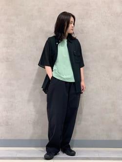 Lee 名古屋店の千さんのLeeの【SALE】ノースリーブ Tシャツを使ったコーディネート