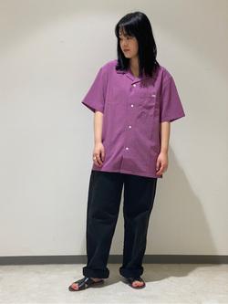 Lee 名古屋店の千さんのLeeの【ガレージセール】オープンカラーシャツ 半袖(POPLIN WASHER)を使ったコーディネート