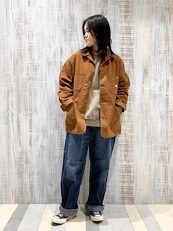 Lee 名古屋店の千さんのLeeのカバーオールジャケットを使ったコーディネート
