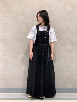 Lee 名古屋店の千さんのLeeのタイダイ柄 半袖Tシャツを使ったコーディネート