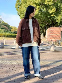 Lee 名古屋店の千さんのLeeの【再値下げ Winter sale】【セットアップ対応】チェトパ ジャケットを使ったコーディネート