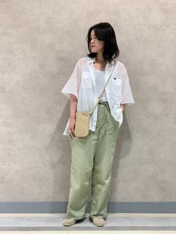 Lee 名古屋店の千さんのLeeのシアーシースルーシャツ半袖を使ったコーディネート