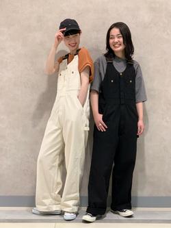 Lee 名古屋店の千さんのLeeのUSED加工 半袖Tシャツを使ったコーディネート