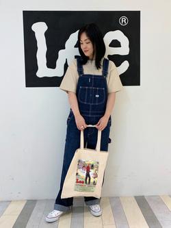 Lee 名古屋店の千さんのLeeの【決算SALE】【ユニセックス】ヘビーウエイト Tシャツを使ったコーディネート