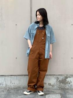 Lee 名古屋店の千さんのLeeの【SALE】ワンポイントロゴ刺繍 半袖Tシャツを使ったコーディネート
