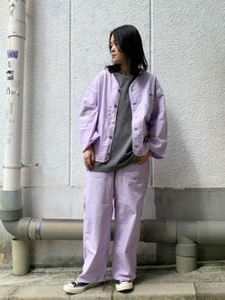 Lee 名古屋店の千さんのLeeの【軽くて涼しい】リラックス ペインターパンツを使ったコーディネート