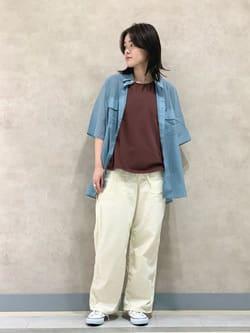 Lee 名古屋店の千さんのLeeの【TOPS 15%OFFクーポン対象】【SALE】ノースリーブ Tシャツを使ったコーディネート