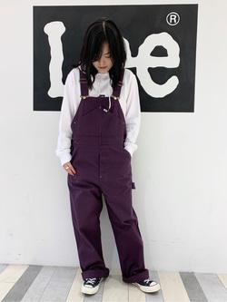 Lee 名古屋店の千さんのLeeのワークミリタリー オーバーオールを使ったコーディネート