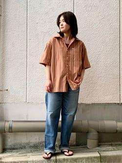 Lee 名古屋店の千さんのLeeの【再値下げSALE】ボックスフィット 半袖シャツを使ったコーディネート