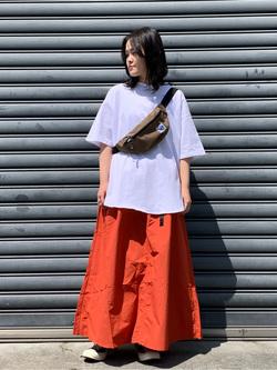 Lee 名古屋店の千さんのLeeの【Lee×GRAMICCI(グラミチ)】ロングスカートを使ったコーディネート