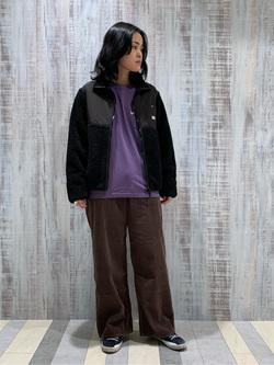 Lee 名古屋店の千さんのLeeの【再値下げ Winter sale】【ユニセックス】フリースジップアップジャケットを使ったコーディネート