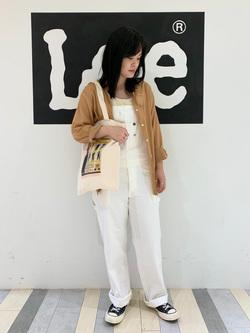 Lee 名古屋店の千さんのLeeの【年間定番&ベストセラー】オーバーオールを使ったコーディネート