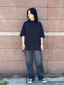 Lee 名古屋店の千さんのLeeの【竹下玲奈さんモデル】ビッグフィットTシャツを使ったコーディネート