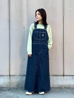 Lee 名古屋店の千さんのLeeの【15%OFFクーポン対象】オーバーオール スカートを使ったコーディネート