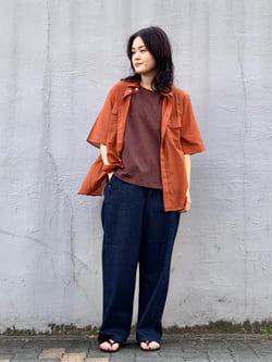 Lee 名古屋店の千さんのLeeの【SALE】シアーシースルーシャツ半袖を使ったコーディネート