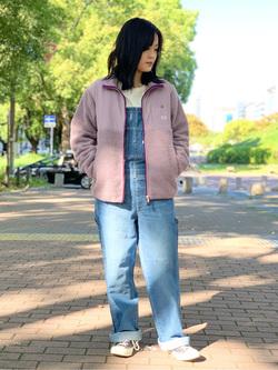 Lee 名古屋店の千さんのLeeの【ユニセックス】フリースジップアップジャケットを使ったコーディネート