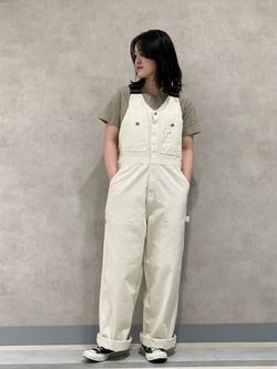 Lee 名古屋店の千さんのLeeのワンポイントロゴ刺繍 半袖Tシャツを使ったコーディネート