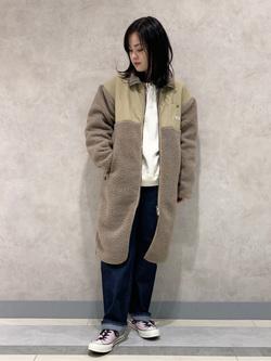 Lee 名古屋店の千さんのLeeの【ユニセックス】【着回し力抜群】フリース コートを使ったコーディネート