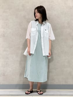 Lee 名古屋店の千さんのLeeの【直営店・WEB限定】フレンチスリーブ マキシドレスを使ったコーディネート