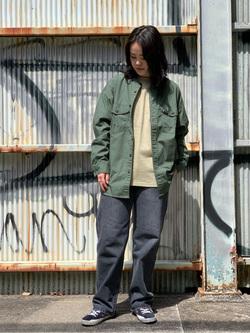 Lee 名古屋店の千さんのLeeのポケット付き 半袖Tシャツを使ったコーディネート
