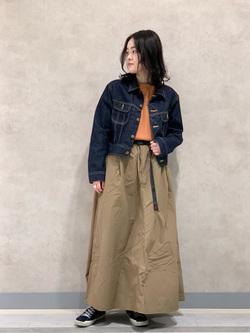 Lee 名古屋店の千さんのLeeの【サーマル素材】ノースリーブTシャツを使ったコーディネート