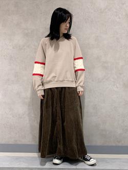 Lee 名古屋店の千さんのLeeの【セットアップ対応】STANDARD WARDROBE COWGIRL ロングスカート(コーデュロイ)を使ったコーディネート