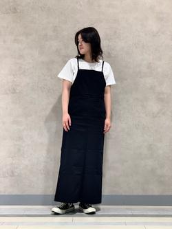 Lee 名古屋店の千さんのLeeの終了【ガレージセール】ワンポイントロゴ刺繍 半袖Tシャツを使ったコーディネート