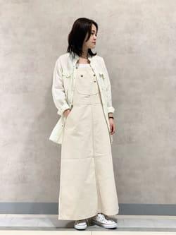 Lee 名古屋店の千さんのLeeのオーバーオール スカートを使ったコーディネート