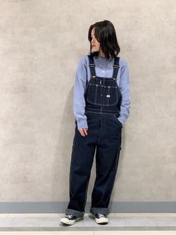 Lee 名古屋店の千さんのLeeのワンポイントロゴ刺繍スウェット/トレーナー【ユニセックス】を使ったコーディネート