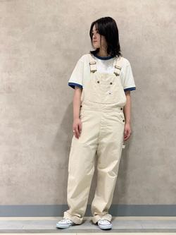 Lee 名古屋店の千さんのLeeのリンガー 半袖Tシャツを使ったコーディネート