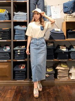 アミュプラザおおいた店のめいにゃんさんのLeeの【試着対象】STANDARD WARDROBE スカートを使ったコーディネート