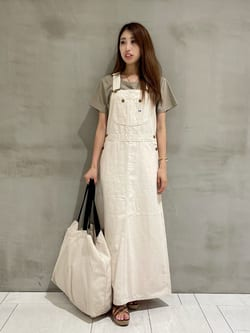 アミュプラザおおいた店のめいにゃんさんのLeeのオーバーオール スカートを使ったコーディネート