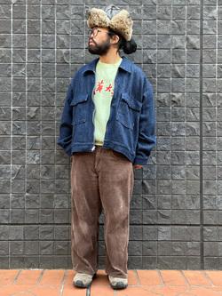 大阪店のUenoさんのLeeの【再値下げ Winter sale】【セットアップ対応】チェトパ ジャケットを使ったコーディネート