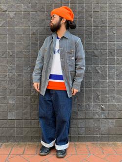 大阪店の上野さんのLeeのARCHIVES 50S 91-J ロコジャケットを使ったコーディネート