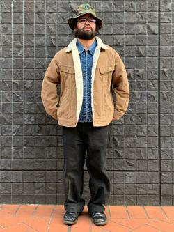 大阪店のUenoさんのLeeの終了【Winter sale】BOA STORM RIDER ジャケット【コーデュロイ】を使ったコーディネート