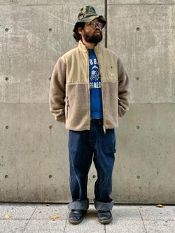 大阪店のUenoさんのLeeの【ユニセックス】フリースジップアップジャケットを使ったコーディネート