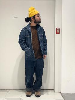 大阪店の上野さんのLeeの【ユニセックス】DUNGAREES ペインターパンツを使ったコーディネート
