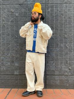 大阪店のUenoさんのLeeの【セットアップ対応】チェトパ ジャケットを使ったコーディネート